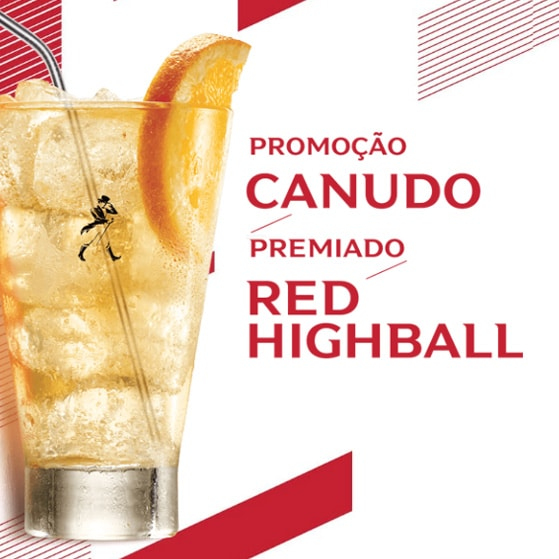 Canudo Premiado Red Highball