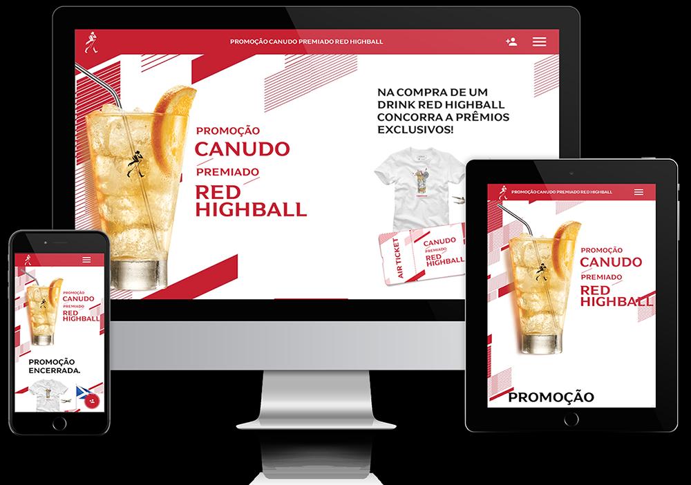 Promoção Canudo Premiado Red Highball